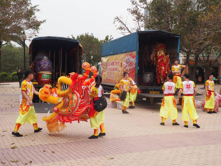Dragon Head, Lion and Dragon Dance, Ma Wan
